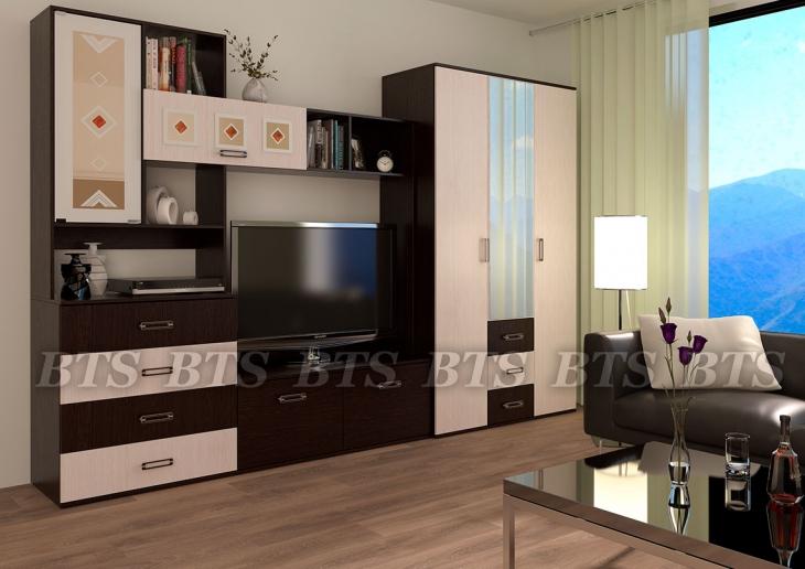 модульная гостиная белла 32 м дешевые стенки в мебель рик